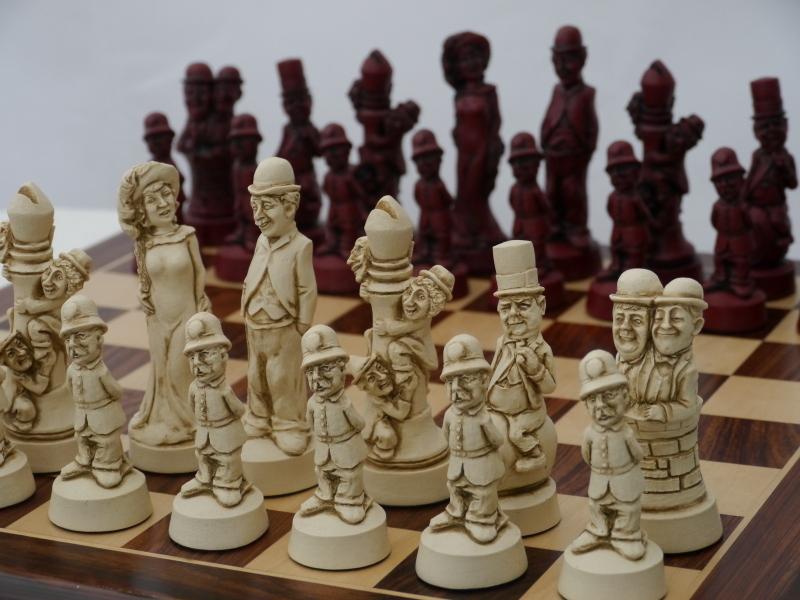 Bc3011 Movie Stars Red Berkeley Chess Theme Decorative Heritage Chess