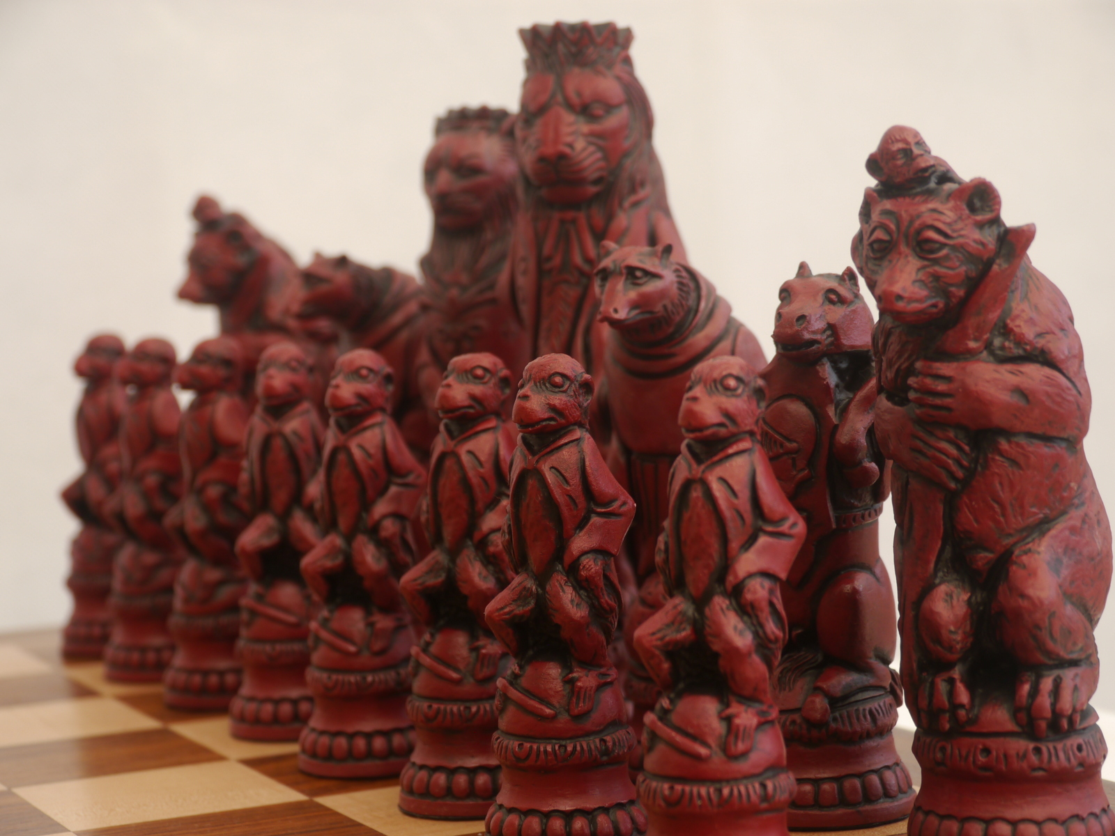 Berkeley Chess Reynard the Fox Cardinal Chess Men